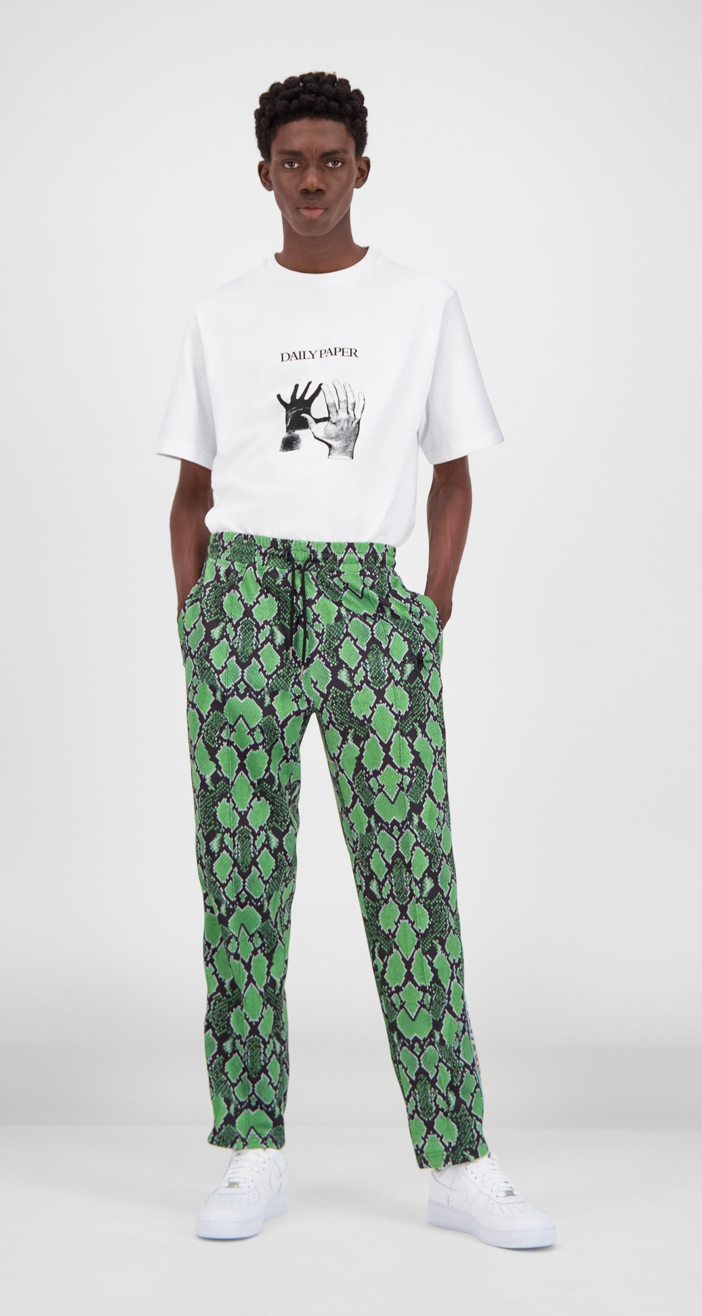 Daily Paper - Green Snake Liba Snake Pants Men Front