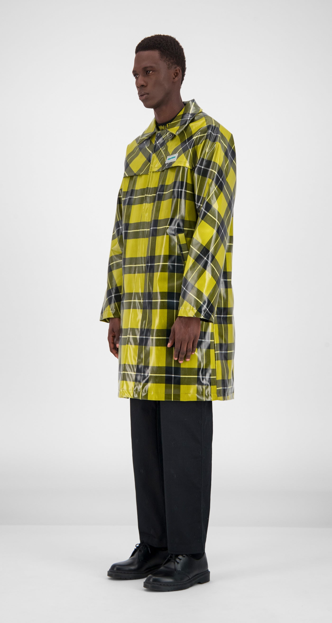 Yellow Checked Gain Jacket - Men