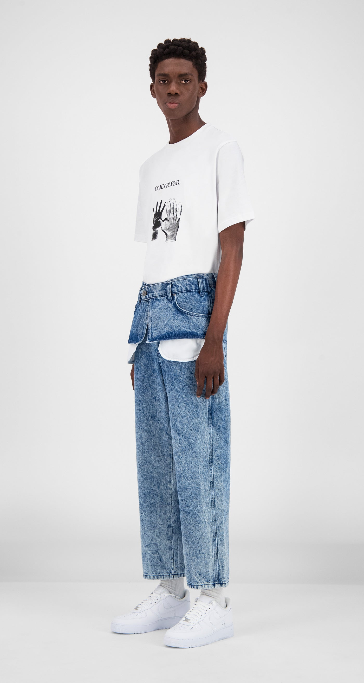 Daily Paper - Blue Denim Acid Wash Glart Pants Men
