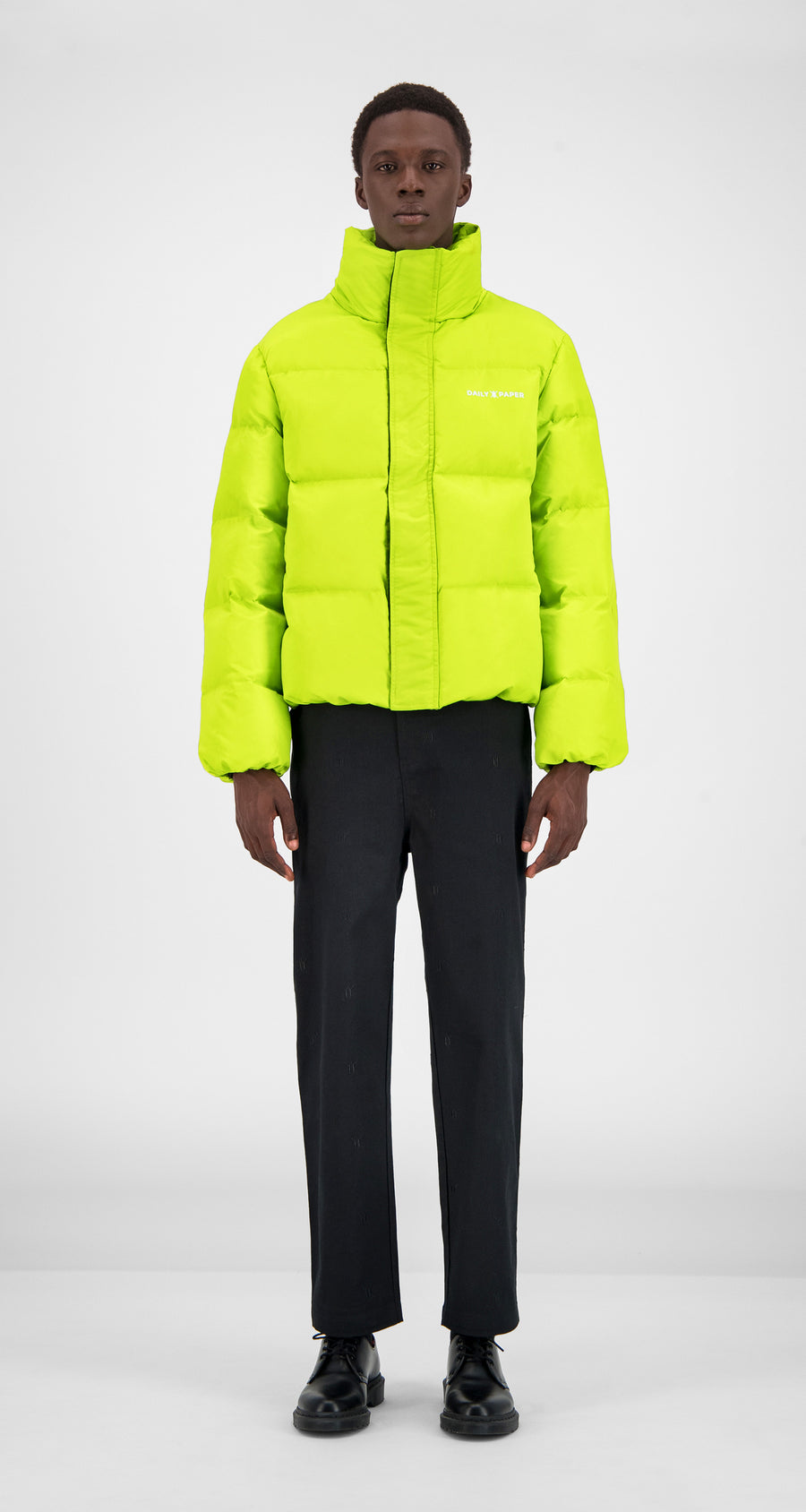 Daily Paper - Macaw Green Core Puffer Jacket Men Front
