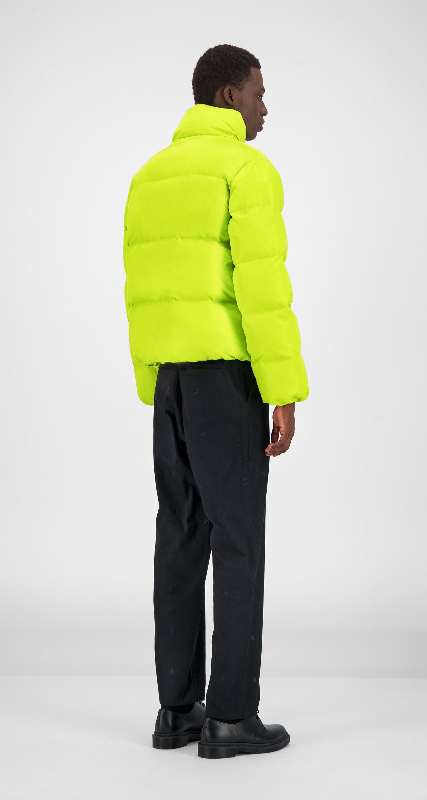 Daily Paper - Macaw Green Core Puffer Jacket Men Rear