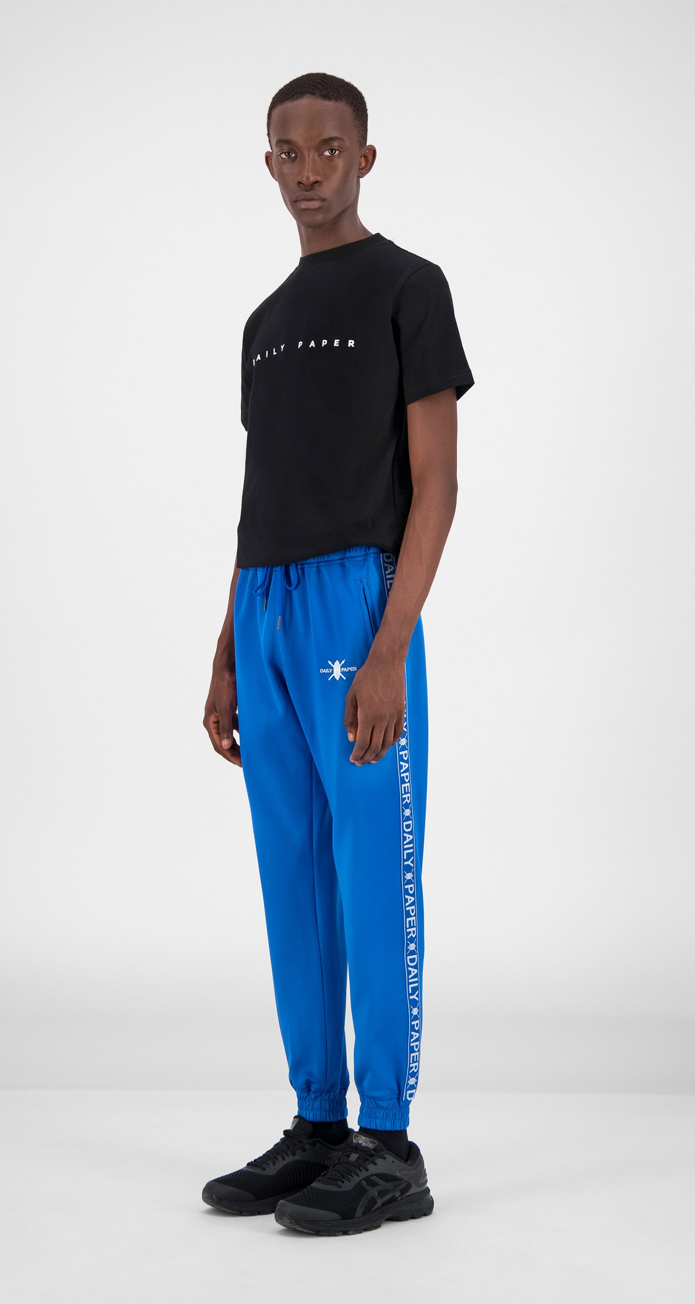 Turkish Sea Tape Logo Track Pants - Men Front