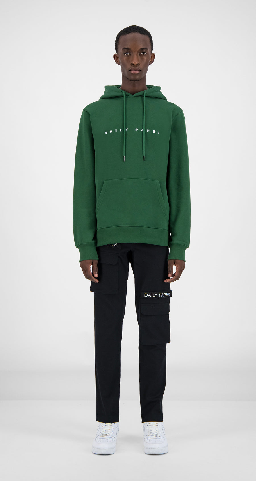Daily Paper - Dark Green Alias Hoody Men Front