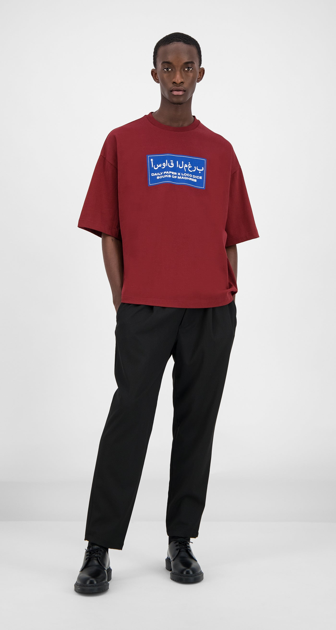 Daily Paper - Bordeaux Souk T-Shirt Men Front