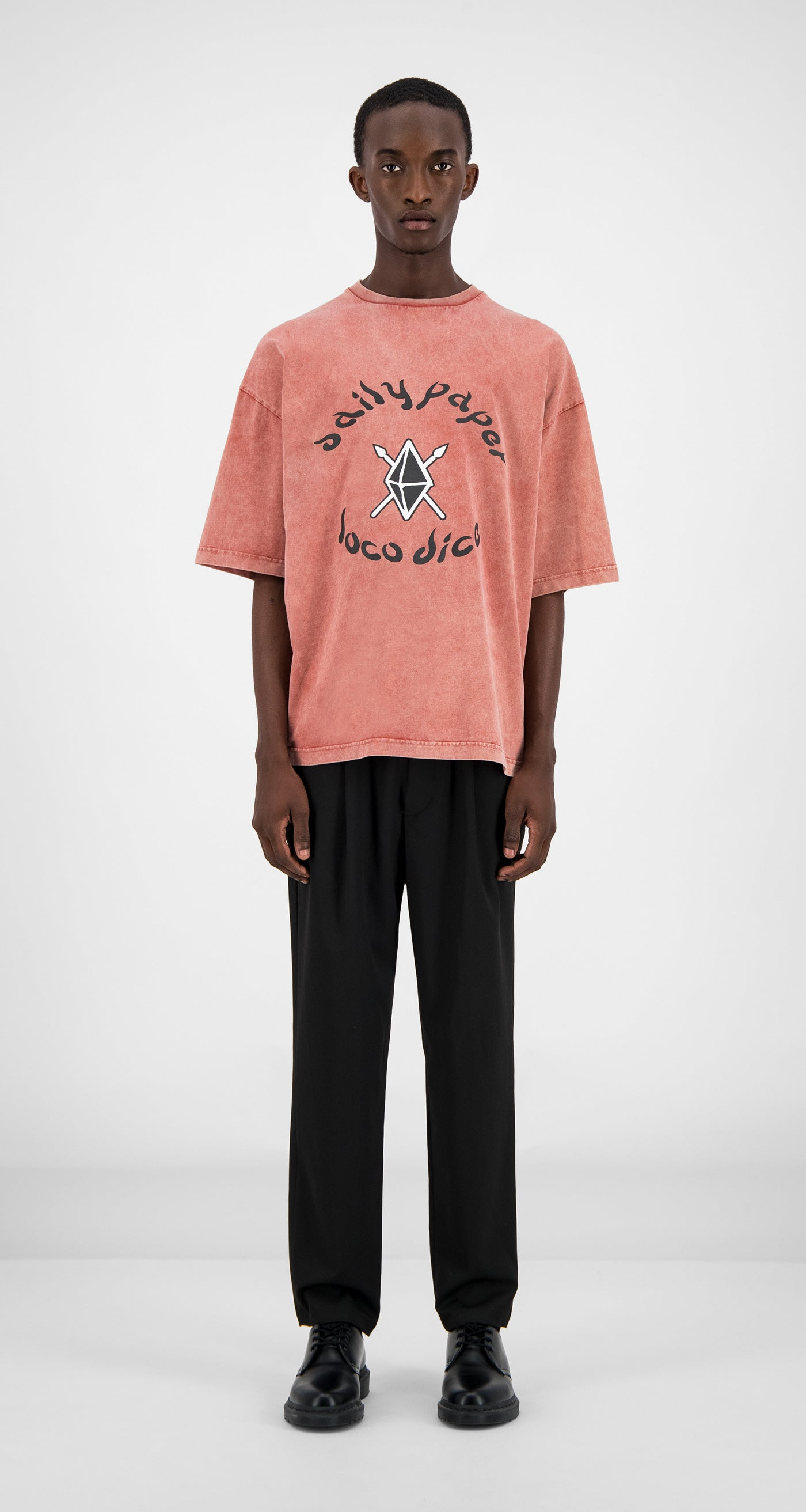 Daily Paper - Acid Red Zagora T-Shirt Men Front