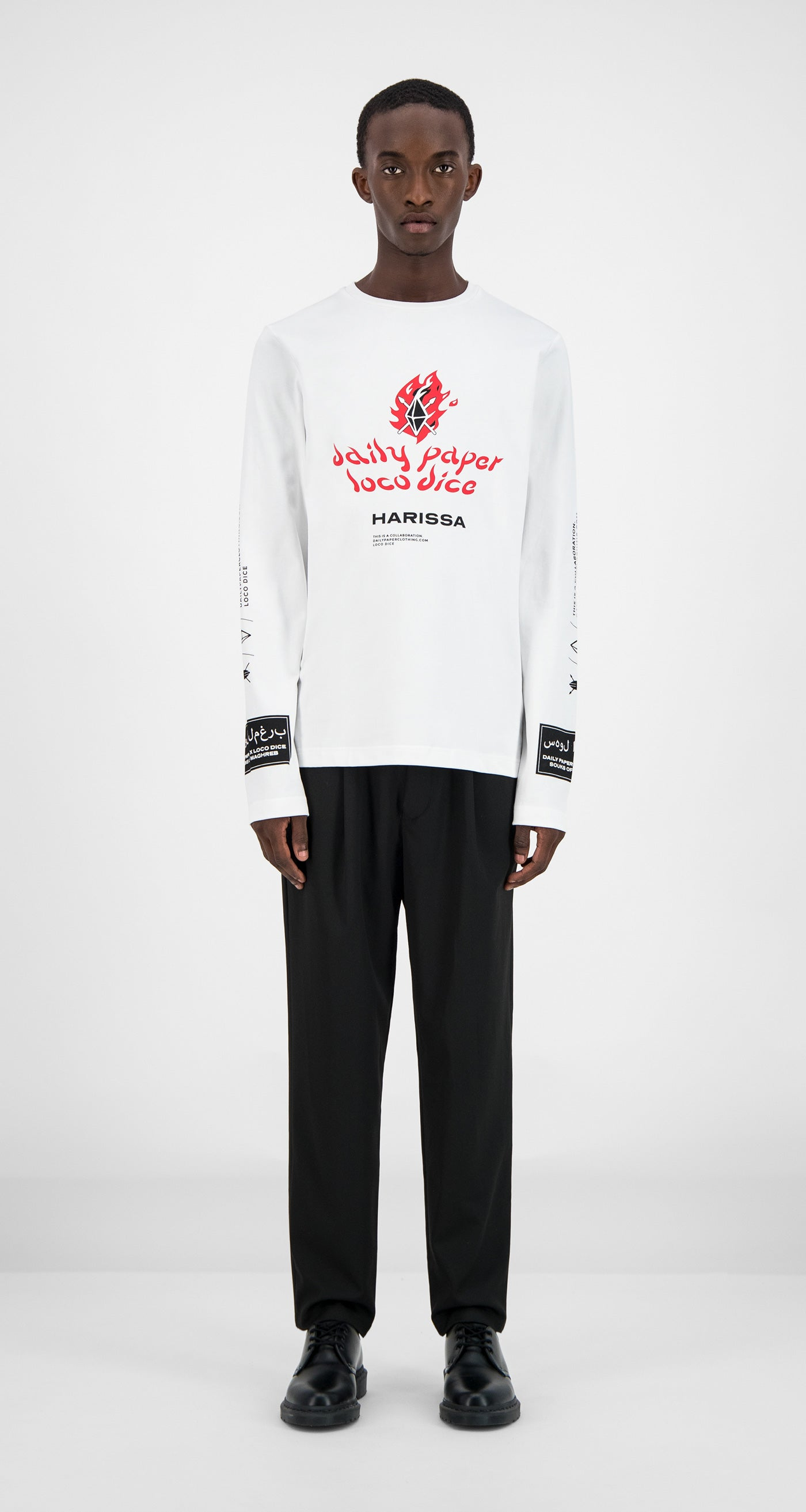 Daily Paper - White Pepper Longsleeve Men Front