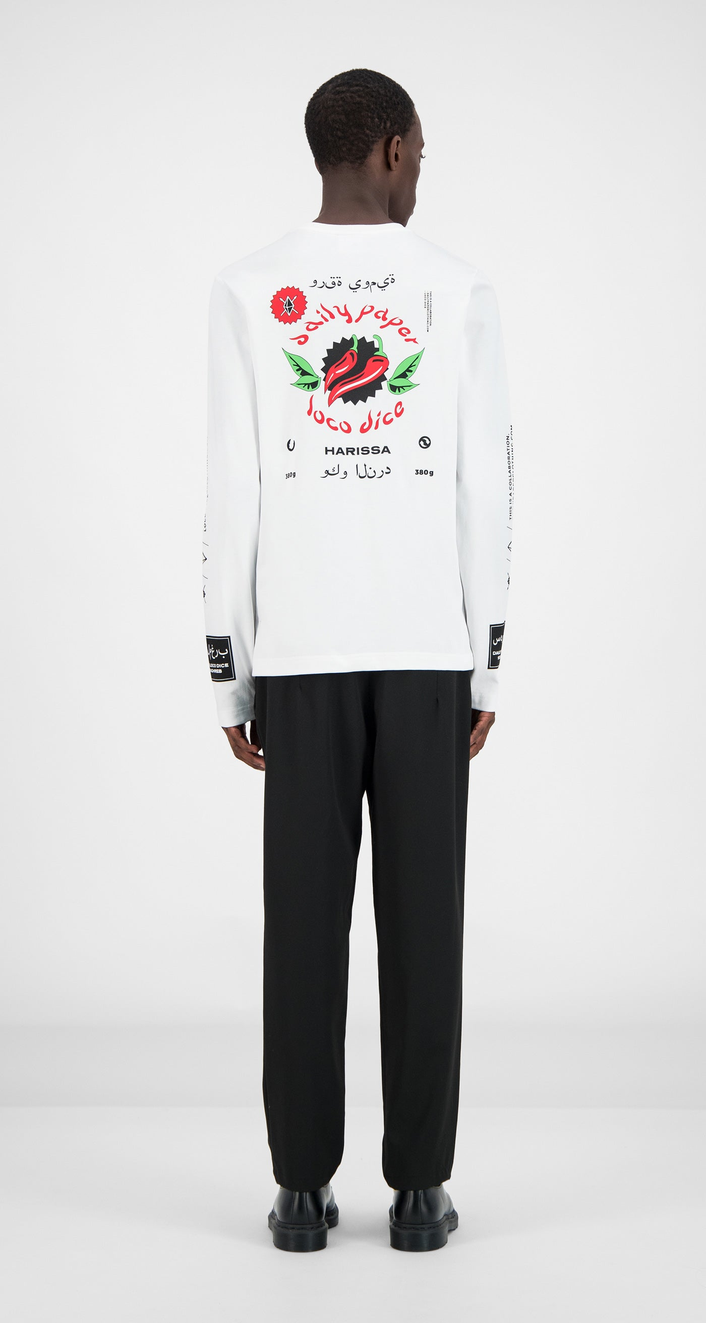 Daily Paper - White Pepper Longsleeve Men Rear