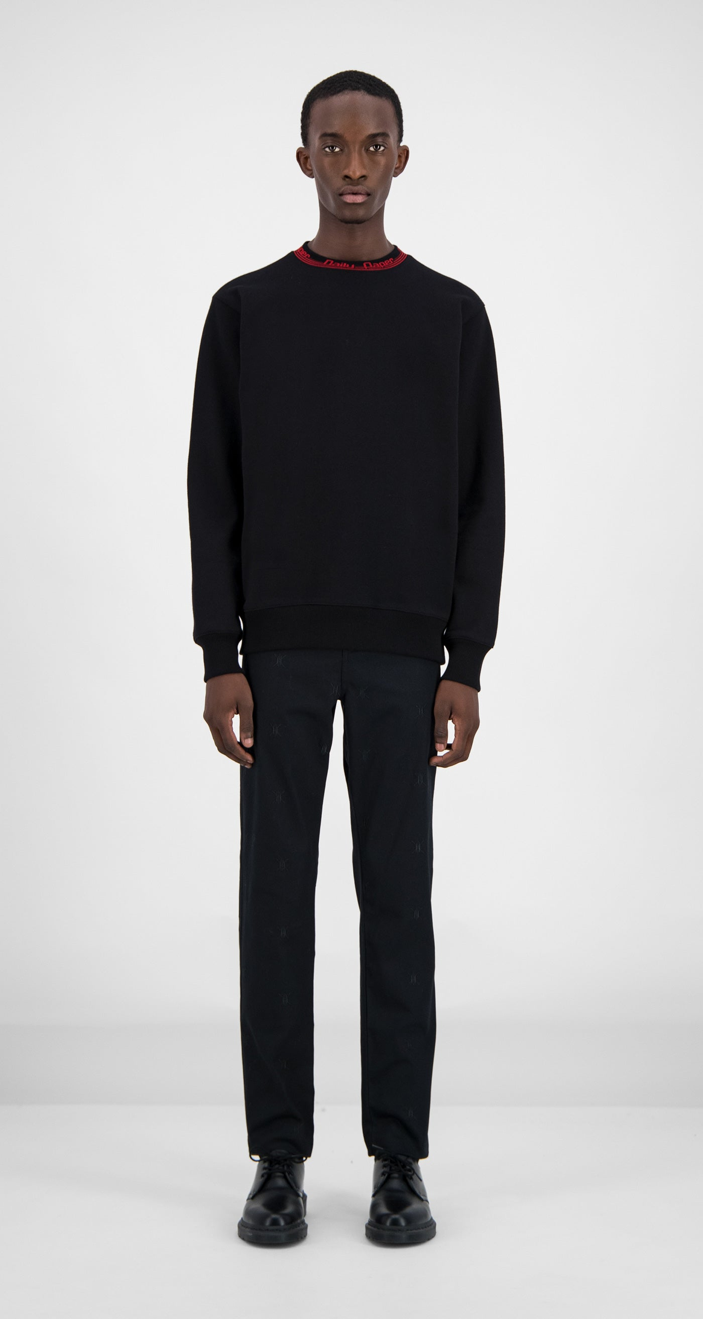 Daily Paper - Black Erib Sweater Men Front
