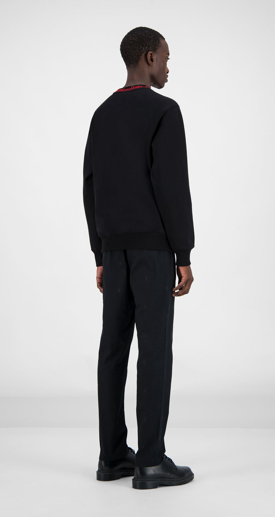 Daily Paper - Black Erib Sweater Men Rear