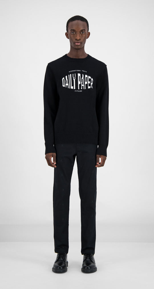Daily Paper - Black Genet Sweater Men Front