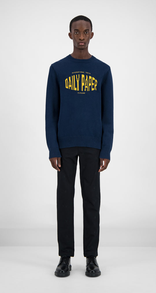 Daily Paper - Navy Genet Sweater Men Front