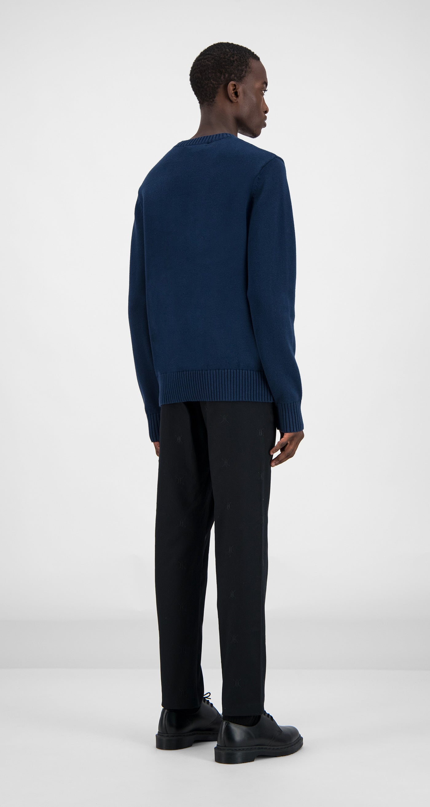 Daily Paper - Navy Genet Sweater Men Rear