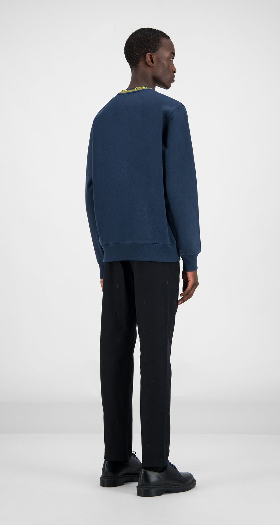 Daily Paper - Navy Erib Sweater Men Rear