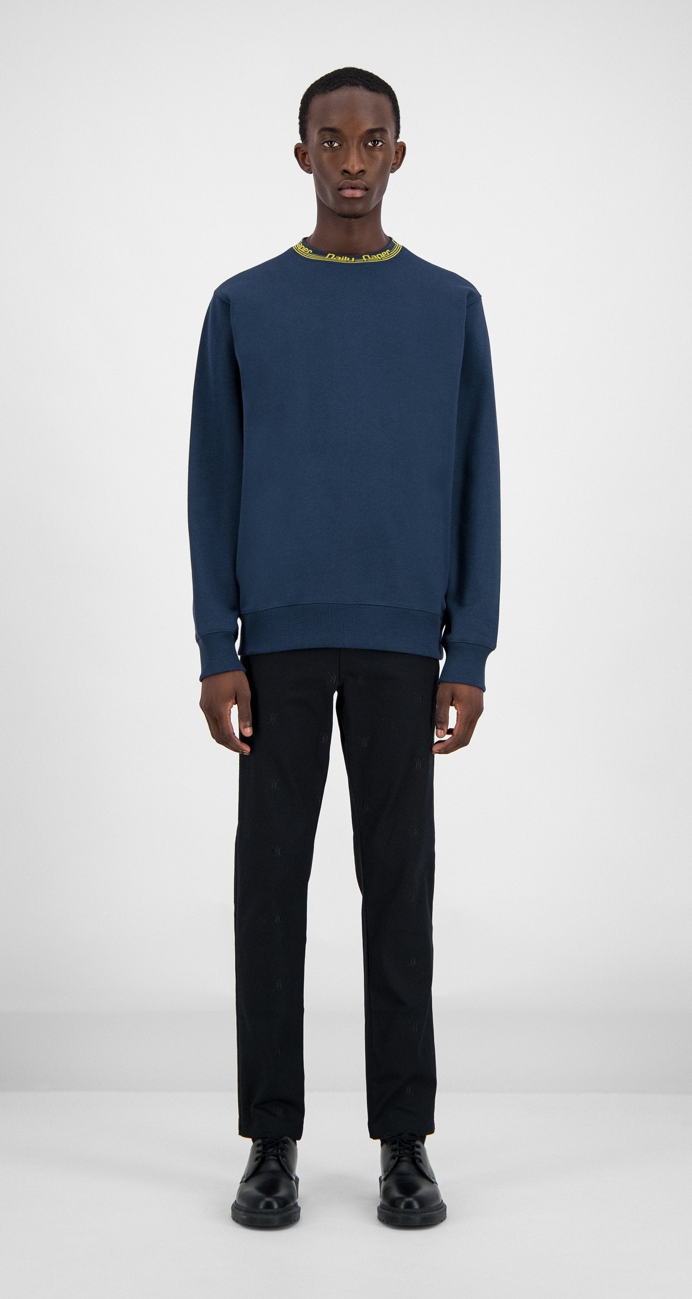 Daily Paper - Navy Erib Sweater Men Front
