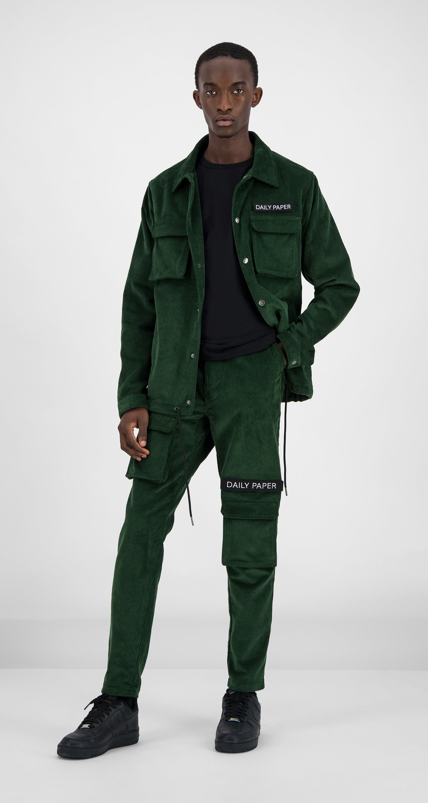Daily Paper - Green Corduroy Cargo Jacket Men