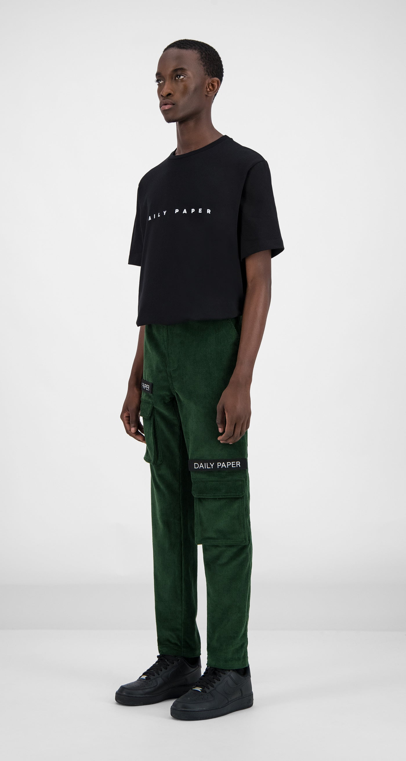Daily Paper - Green Corduroy Cargo Pants Men