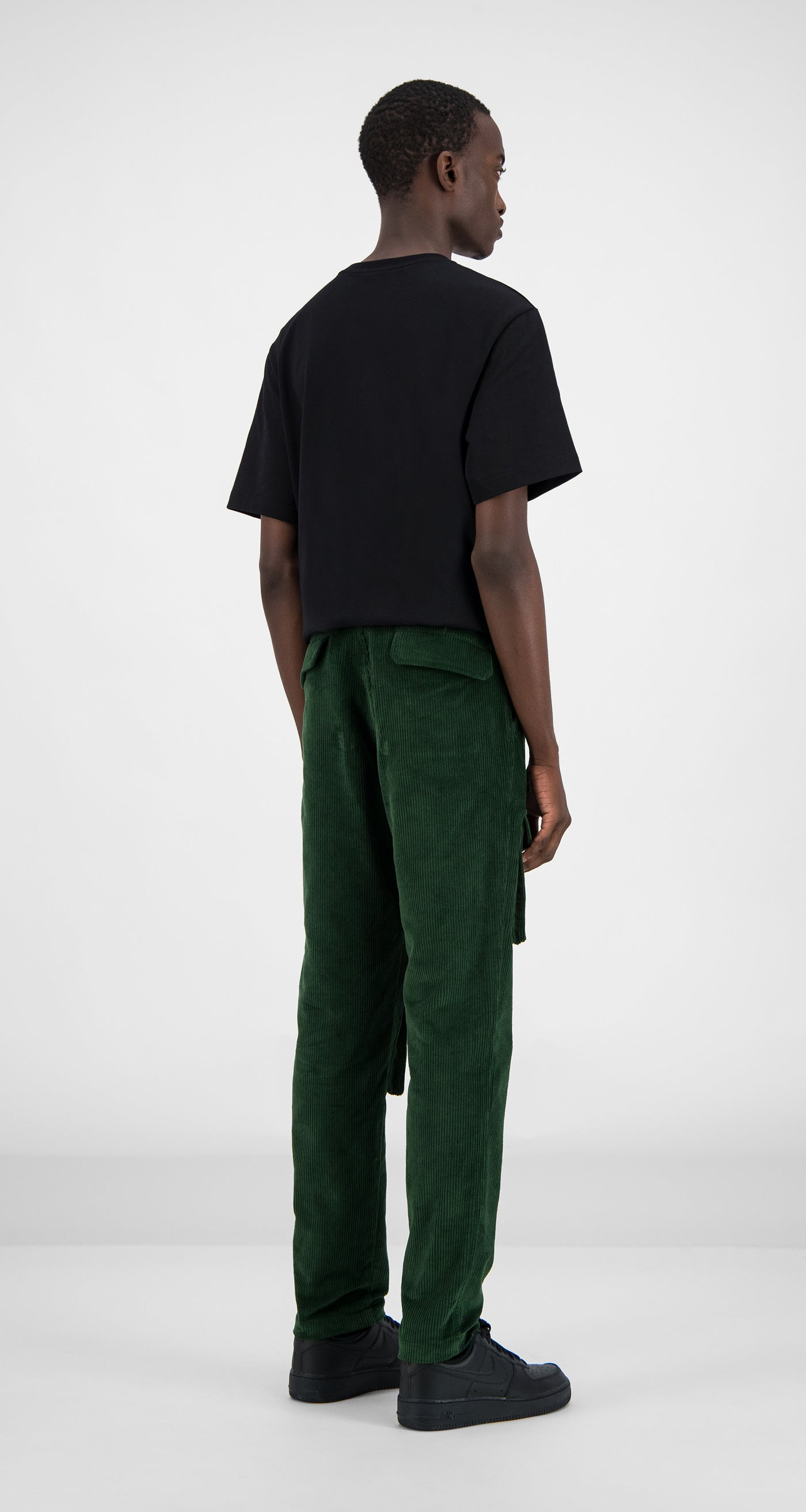 Daily Paper - Green Corduroy Cargo Pants Men Rear