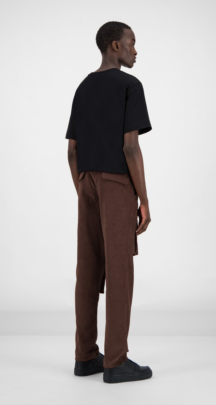 Daily Paper - Brown Corduroy Cargo Pants Men Rear