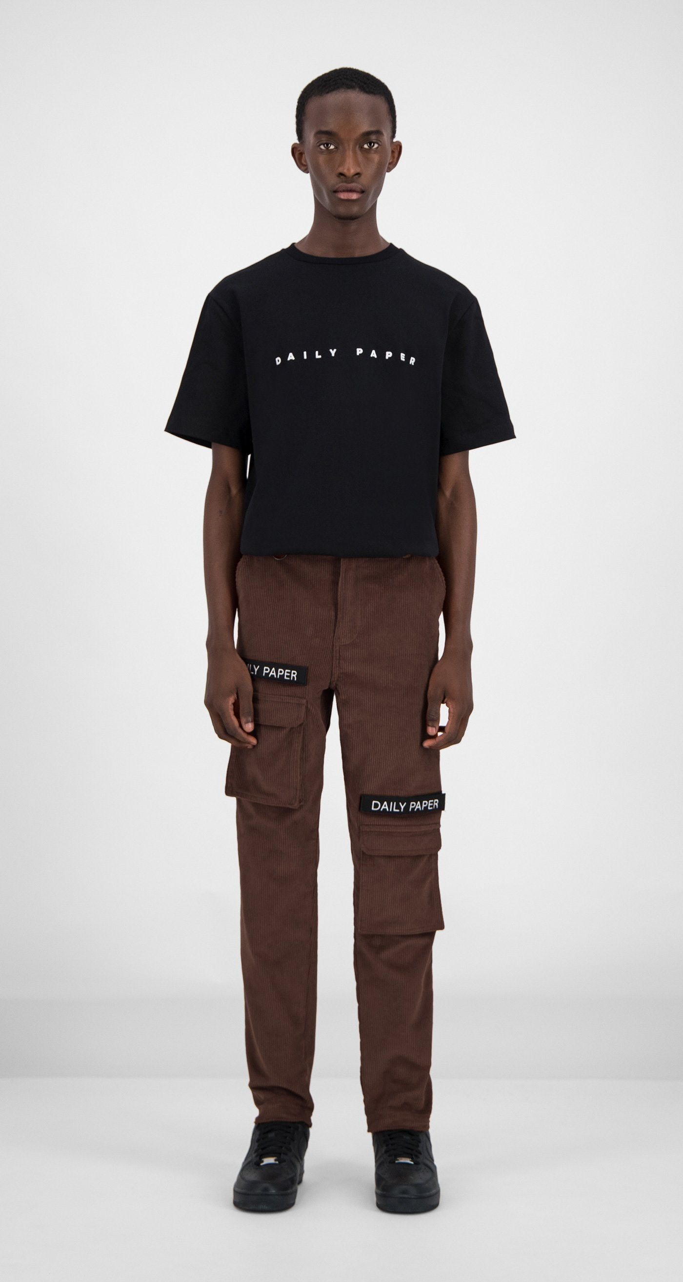 Daily Paper - Brown Corduroy Cargo Pants Men Front