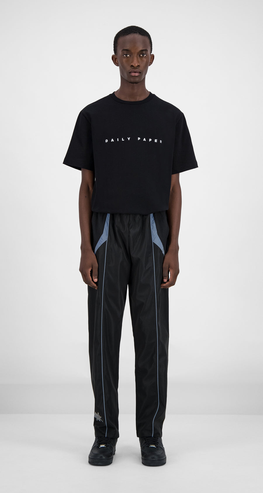 Daily Paper - Daily Paper x STARBOY Black Guka Pants Men Front