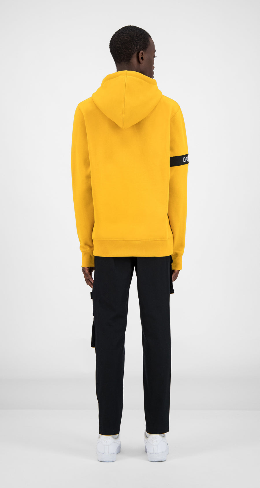Daily Paper - Yellow Captain Hoody Men Rear