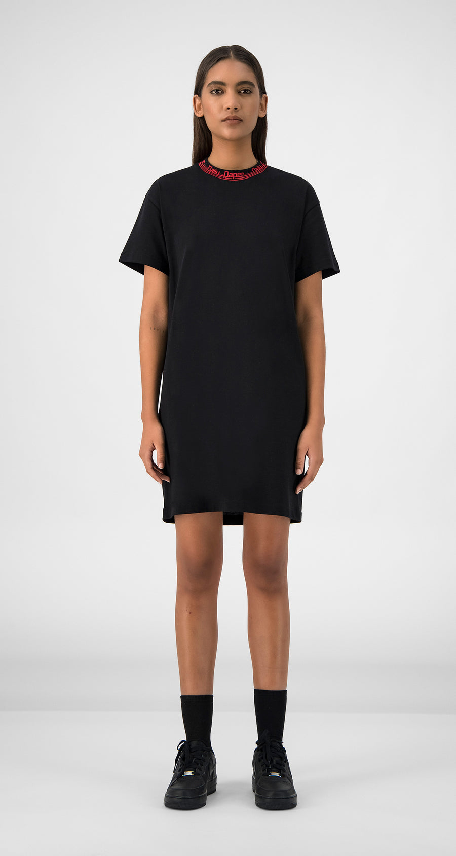 Daily Paper - Black Erib Dress Women Front