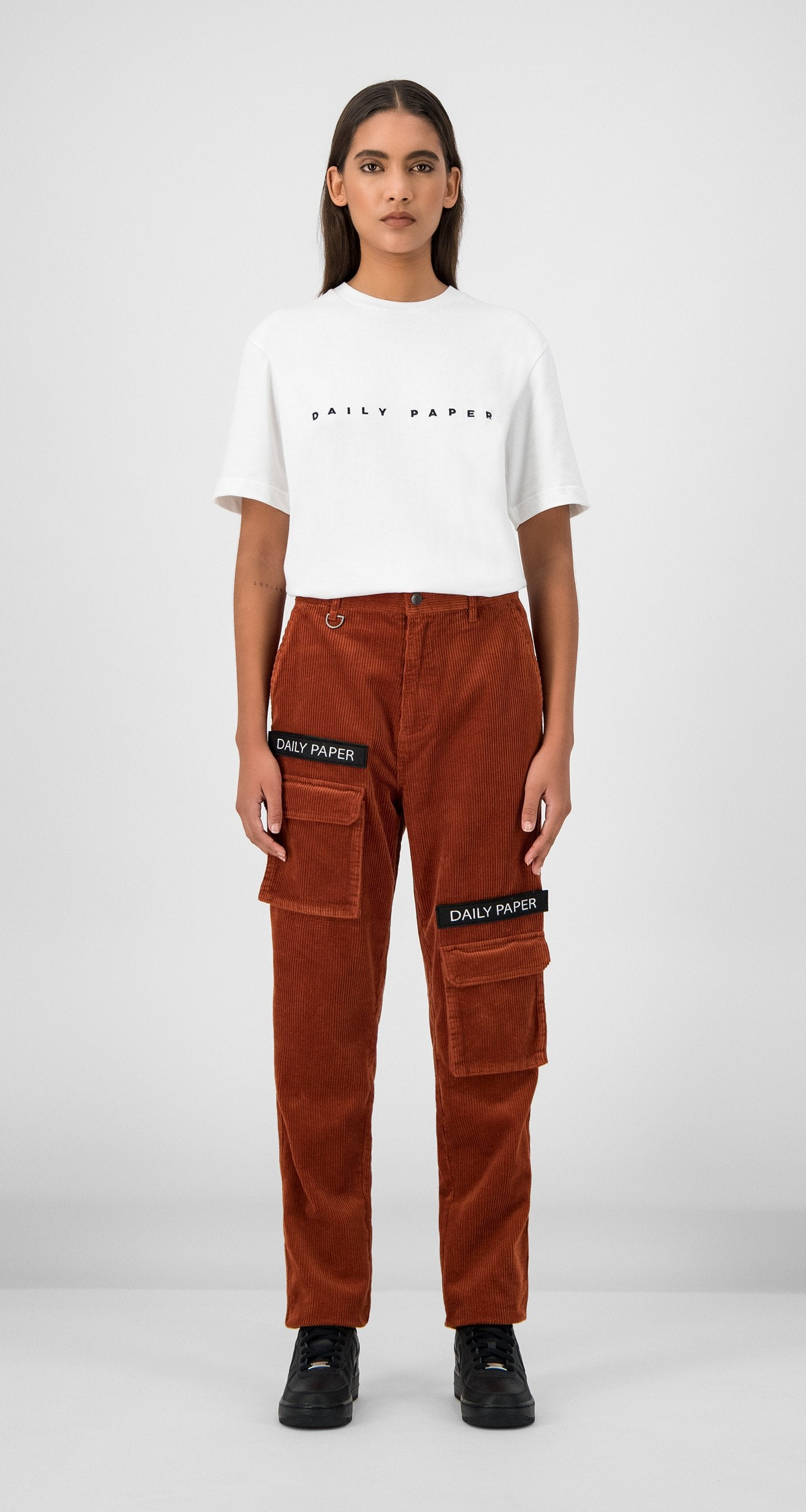Daily Paper - Arabian Spice Corduroy Cargo Pants Women Front