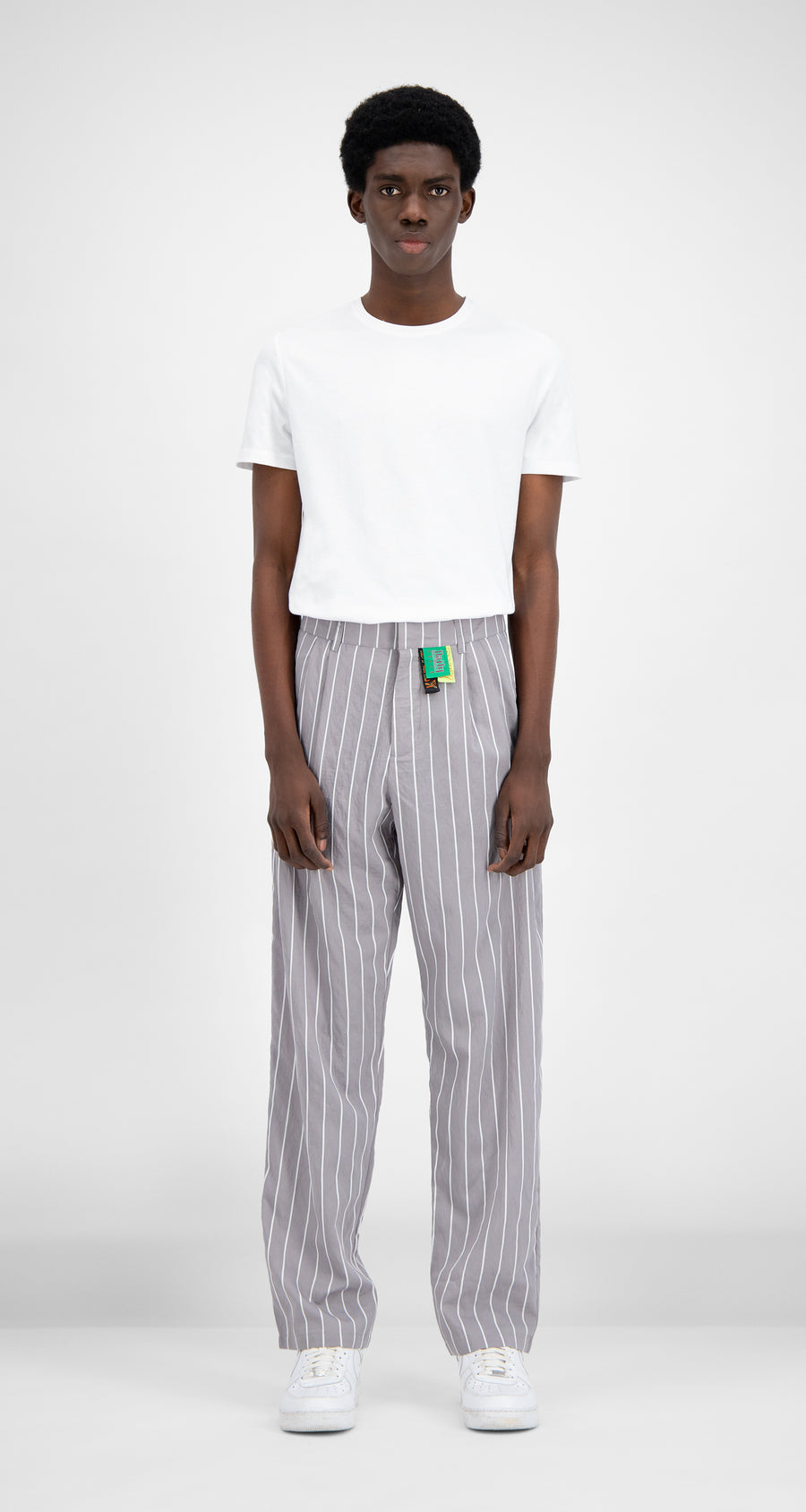 Daily Paper - Grey Stripe Hamid Pants - Men Front