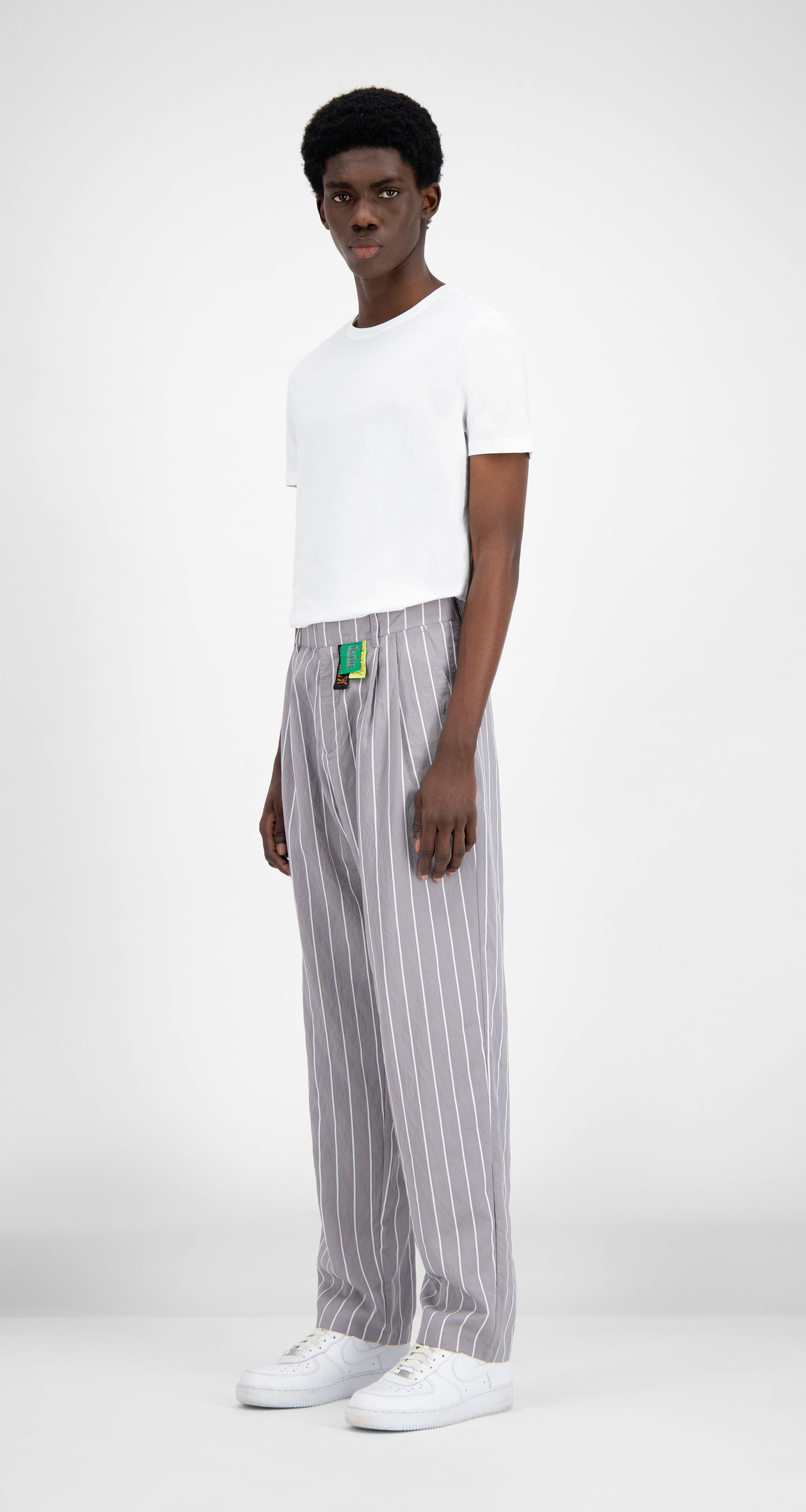 Daily Paper - Grey Stripe Hamid Pants - Men