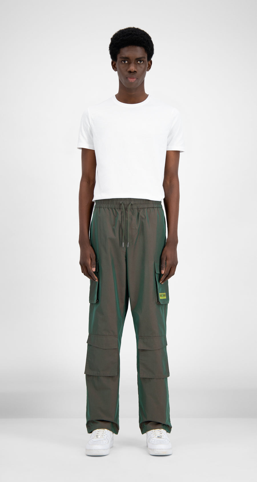 Daily Paper - Green Red Haben Pants - Men Front