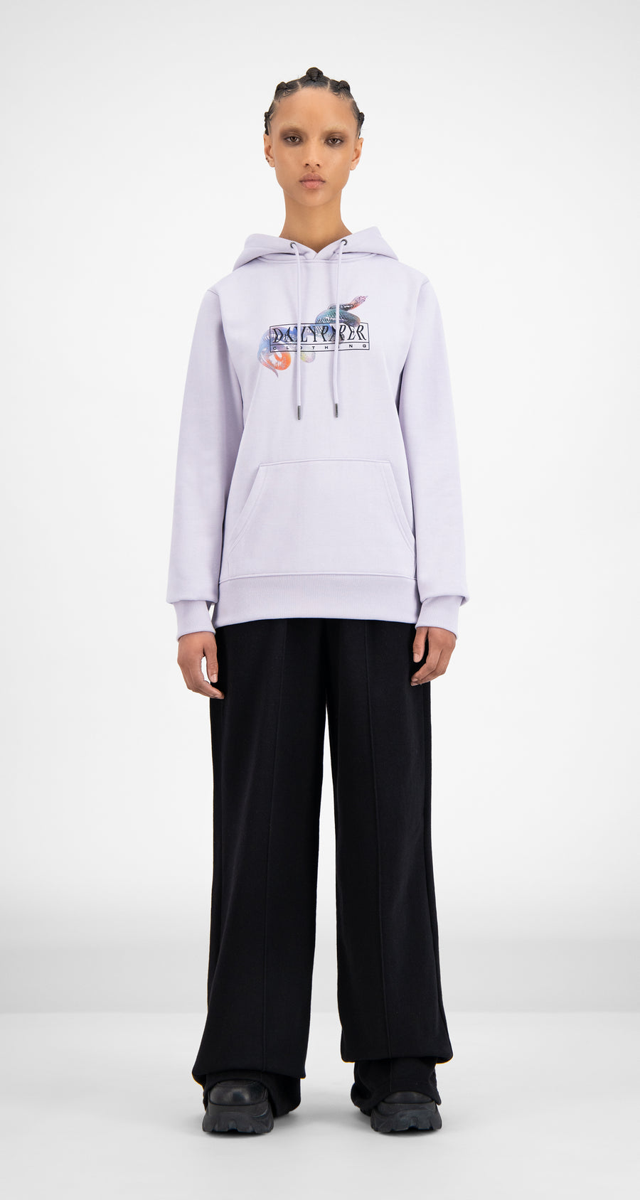 Daily Paper - Misty Lilac Hami Hoody - Women Front
