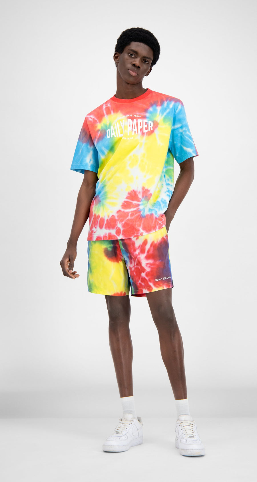 Daily Paper - Tie Dye Reprime Swim Shorts - Men Front