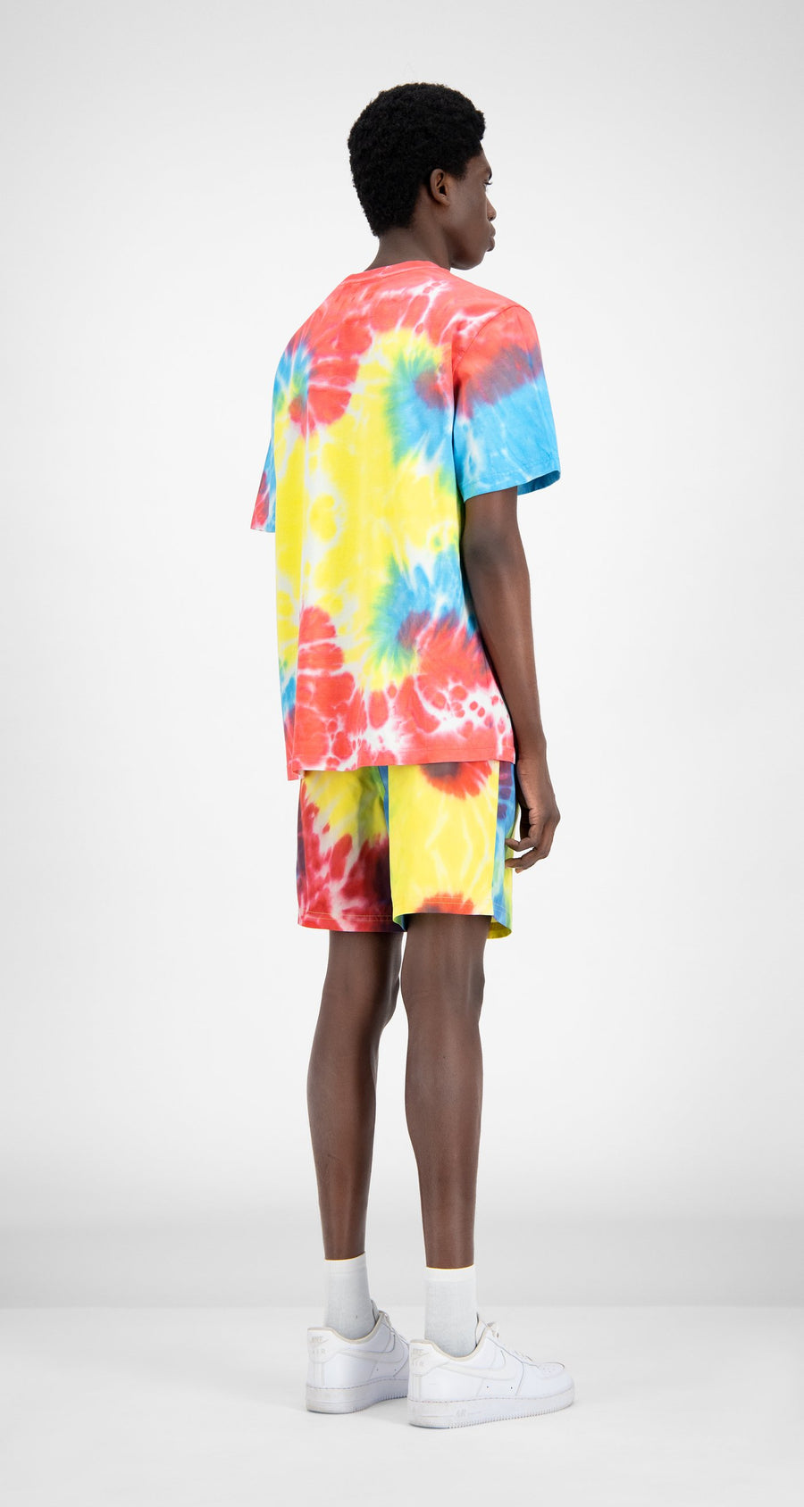 Daily Paper - Tie Dye Reprime Swim Shorts - Men Rear