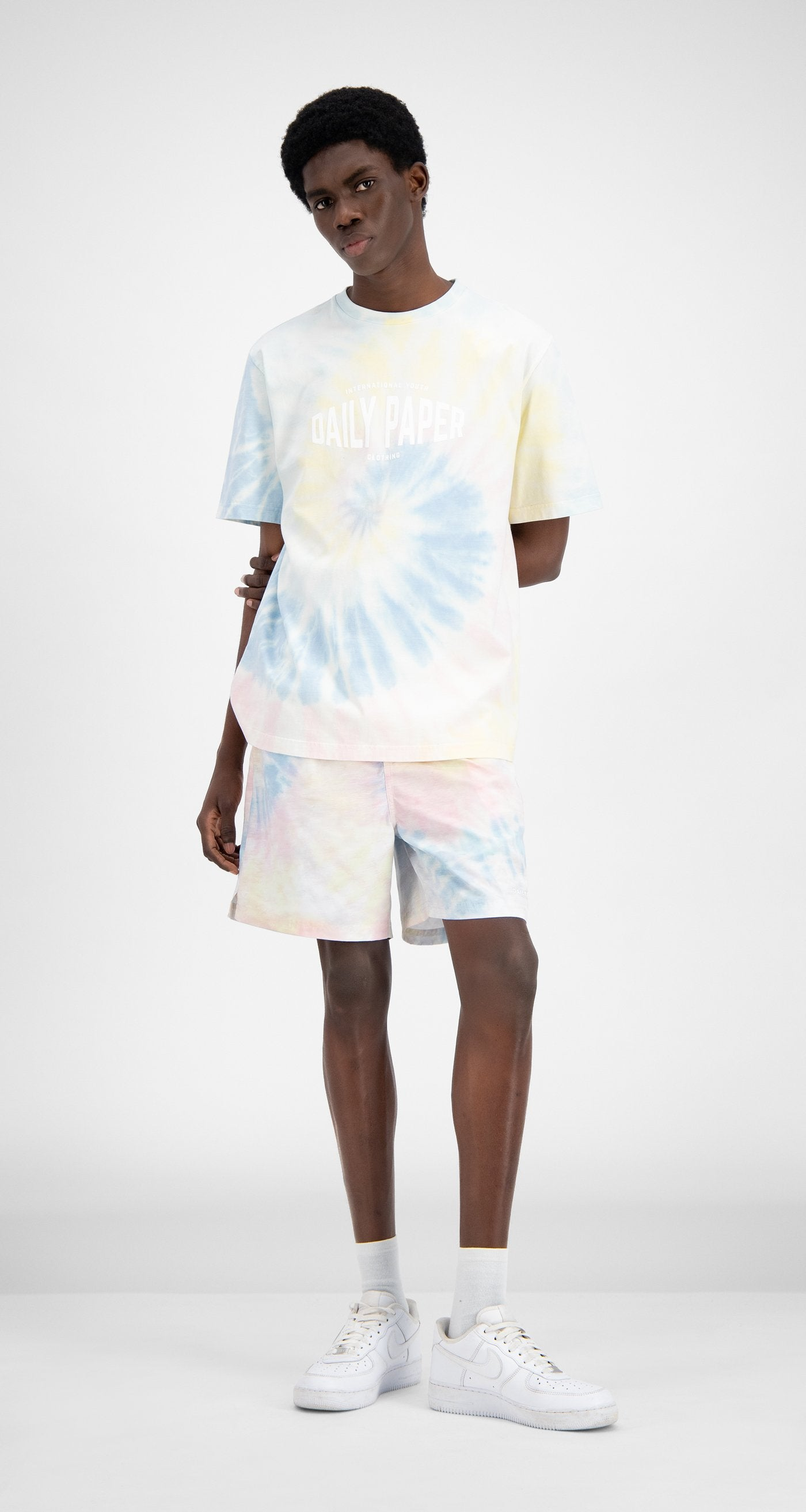Daily Paper - Tie Dye Repast Swim Shorts - Men Front