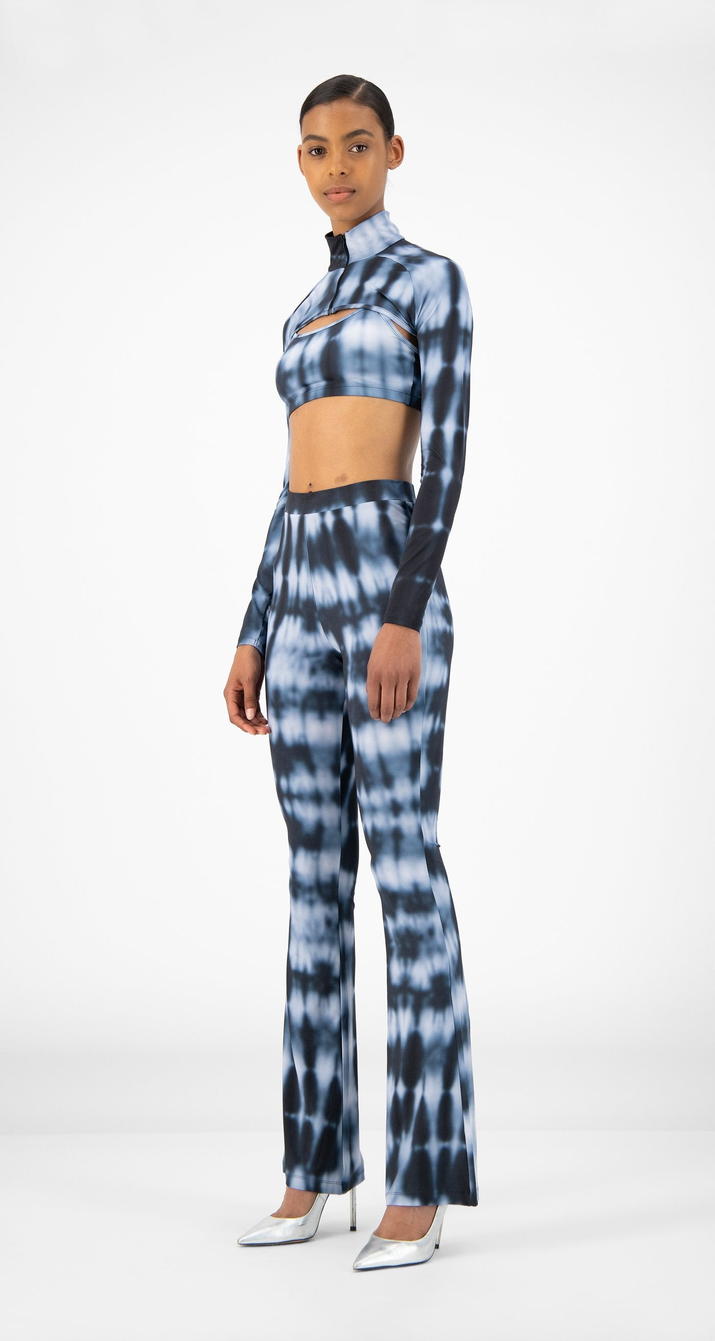Daily Paper - Blue Shibori Reflare Pants - Women
