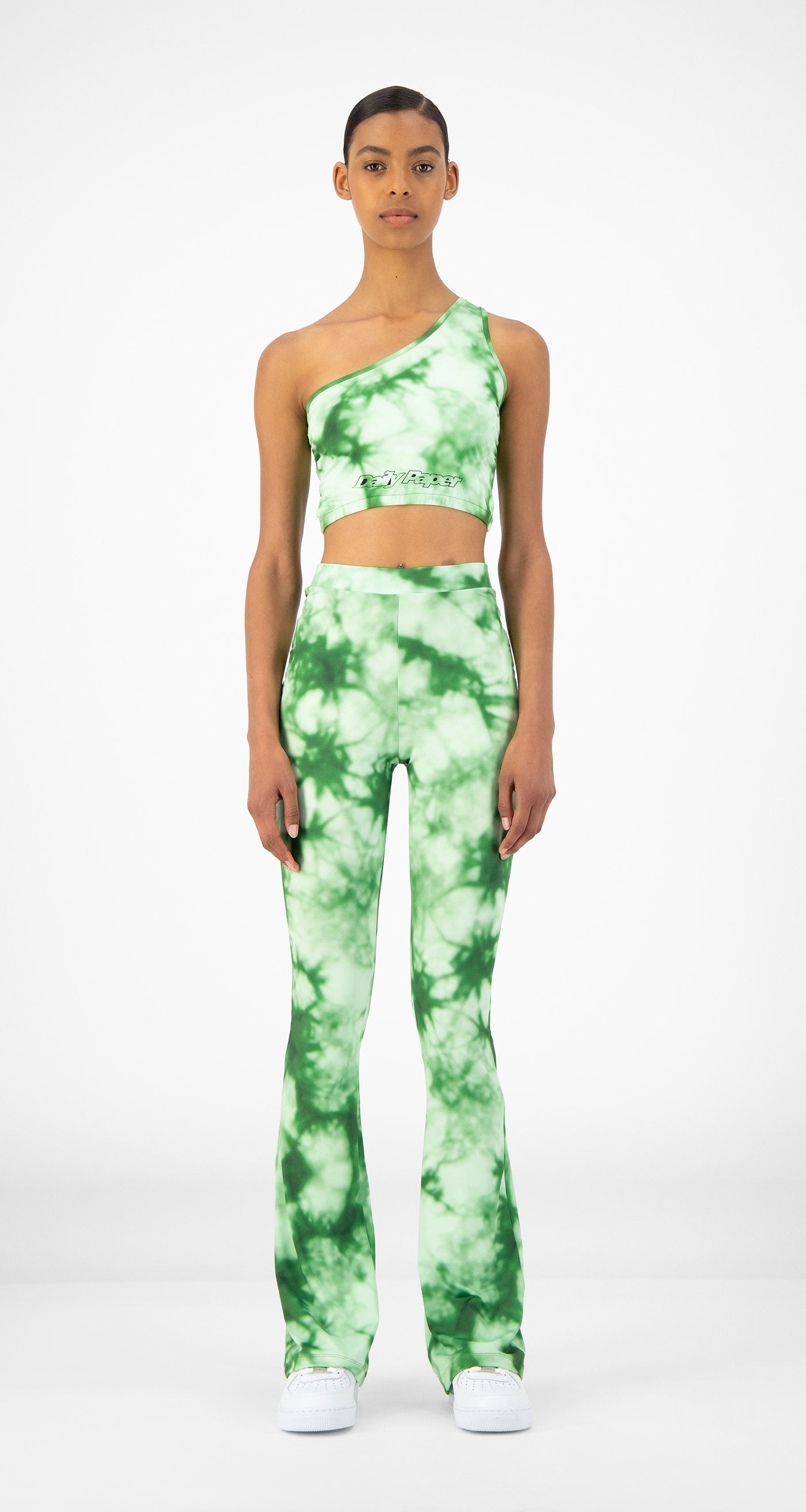 Daily Paper - Green Tie Dye Reflare Pants - Women