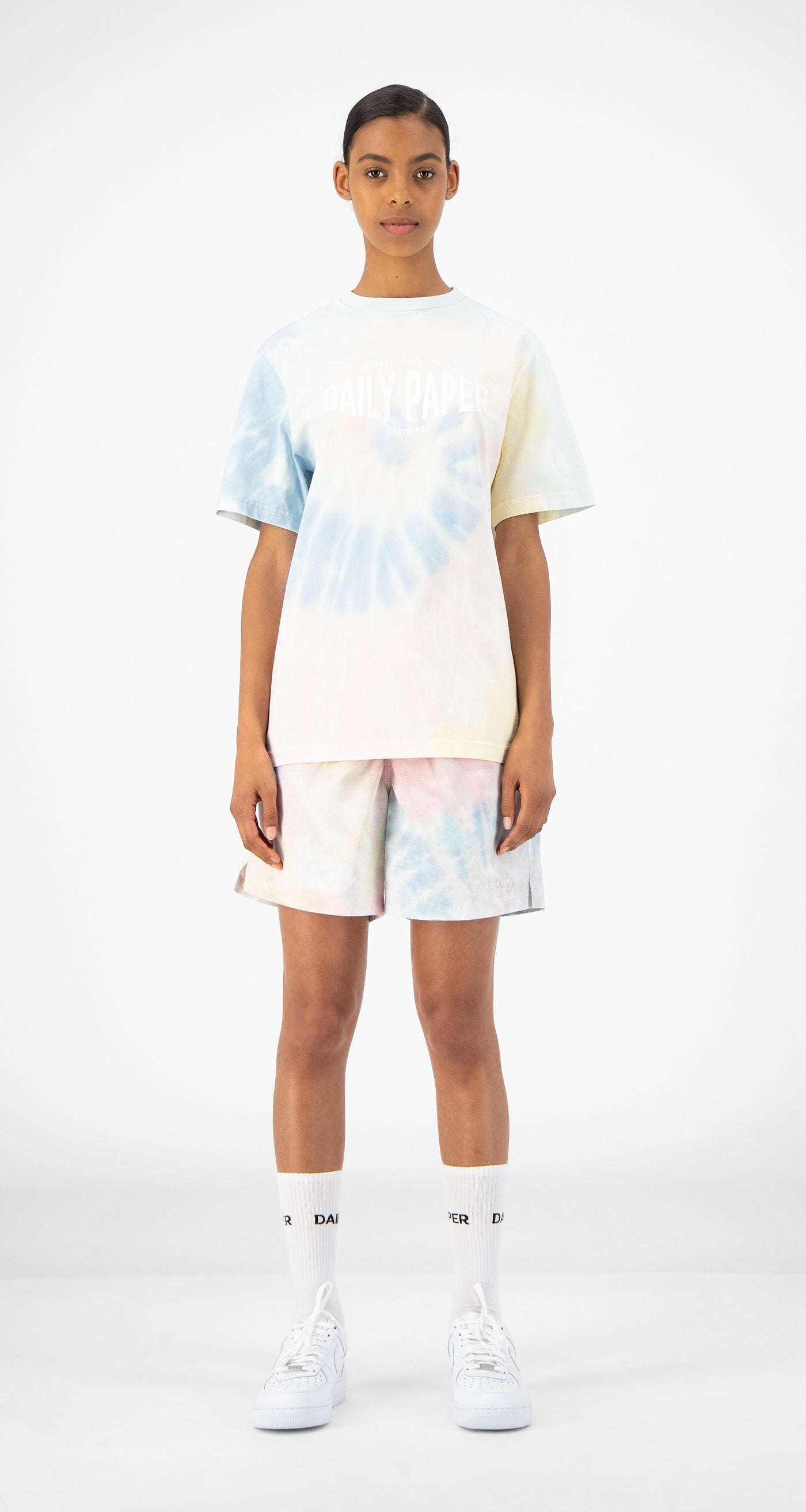 Daily Paper - Tie Dye Repast T-Shirt - Women - Front