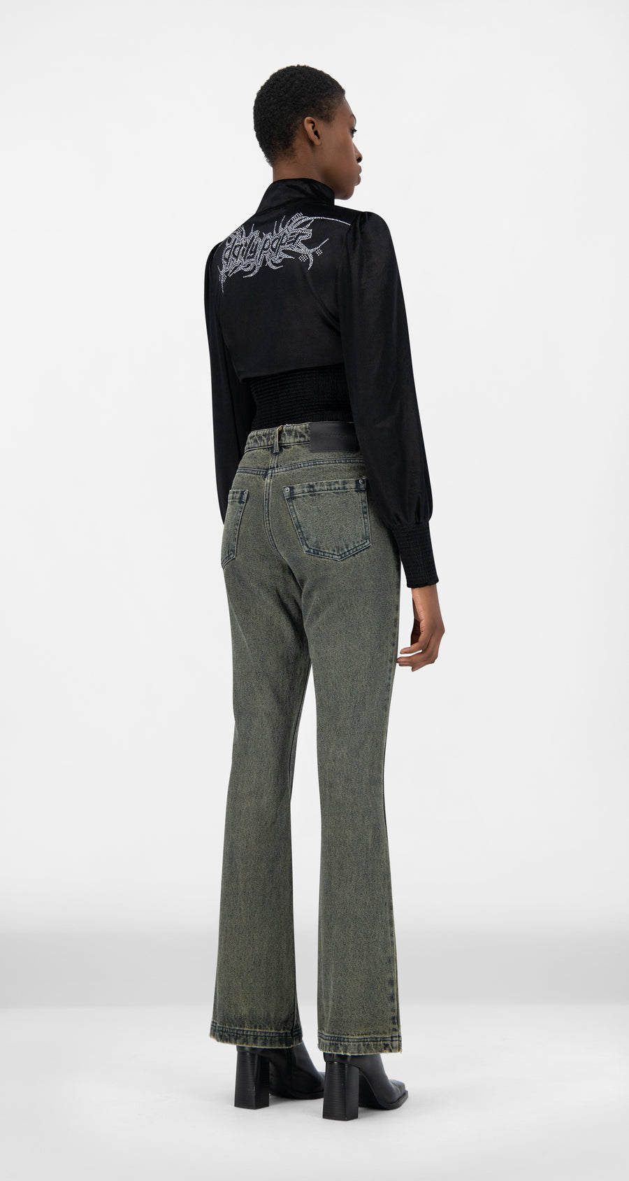 Daily Paper - Vintage Sand Denim Jen Pants - Women Rear