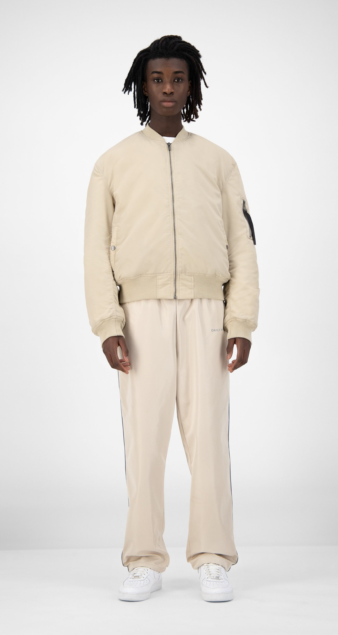 Daily Paper - Beige Ebomb Jacket - Men Rear