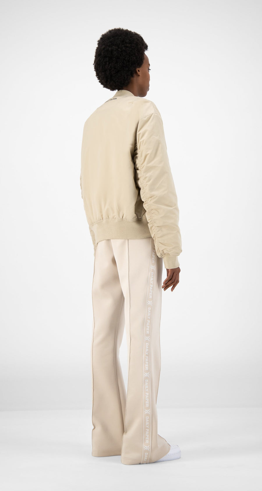 Daily Paper - Beige Ebomb Jacket - Women Rear