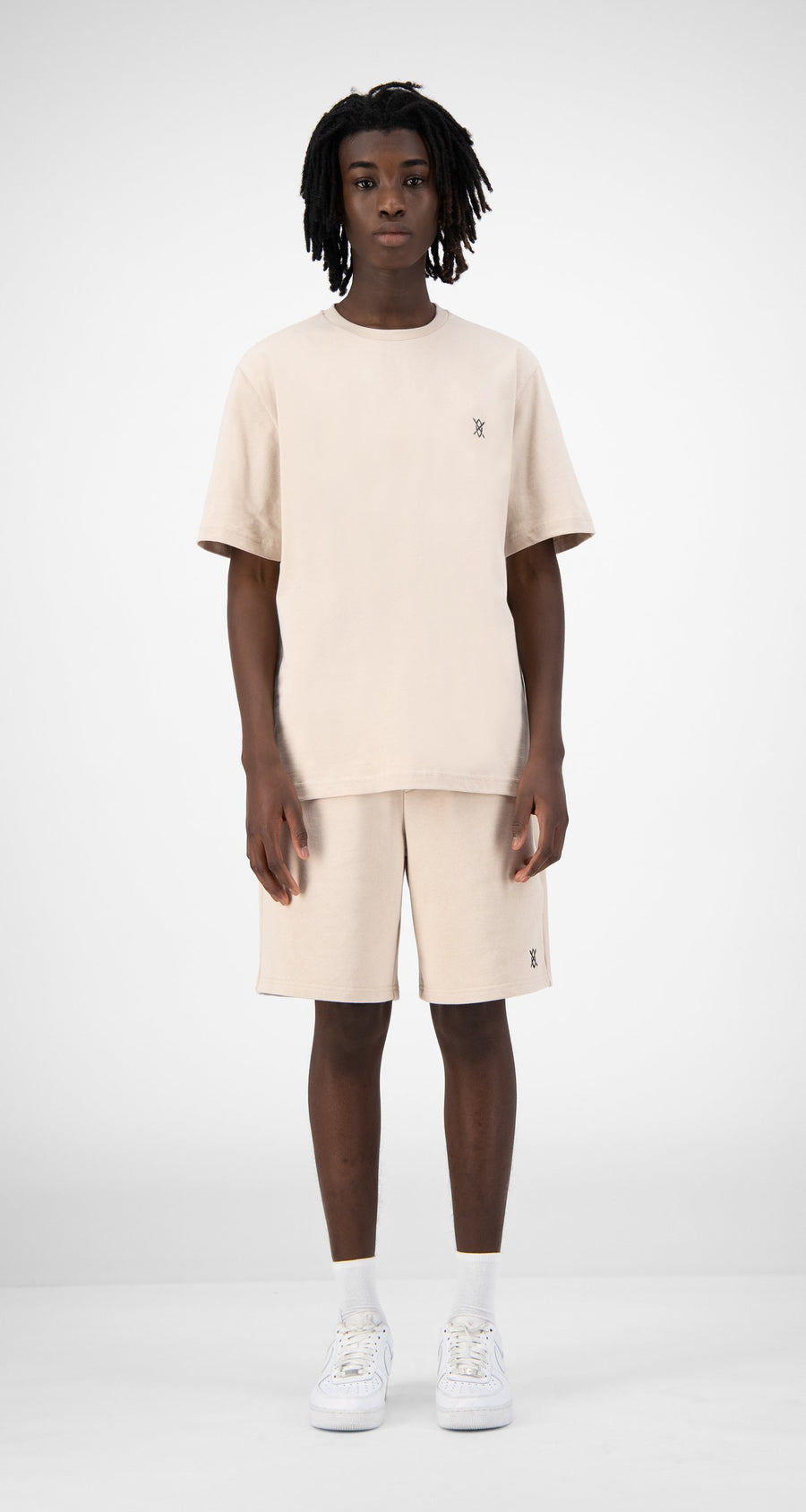 Daily Paper - Beige Eshield T-Shirt - Men Rear