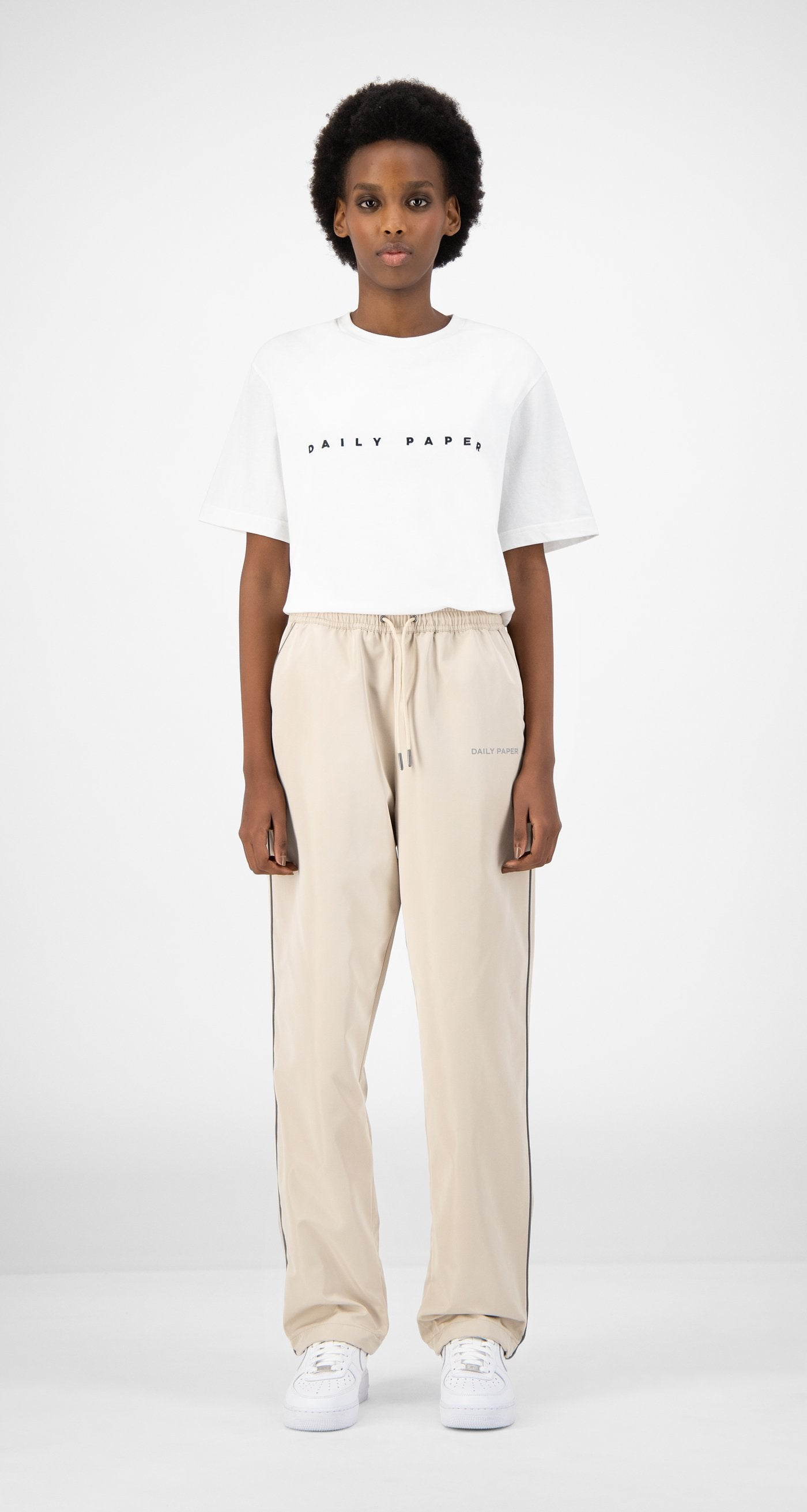 Daily Paper - Beige Etrack Pants - Women Rear