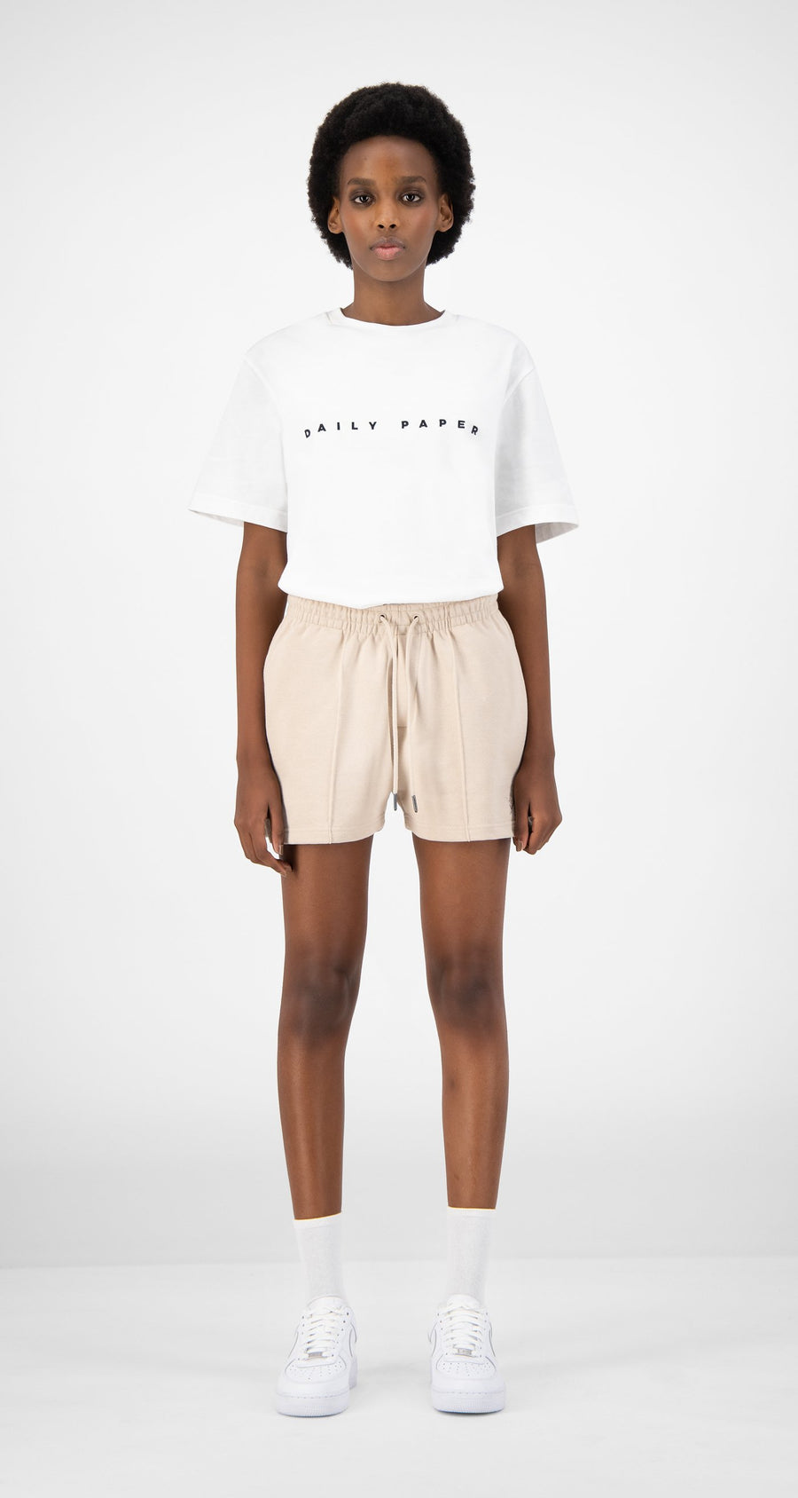 Daily Paper - Beige Ehot Shorts - Women Front