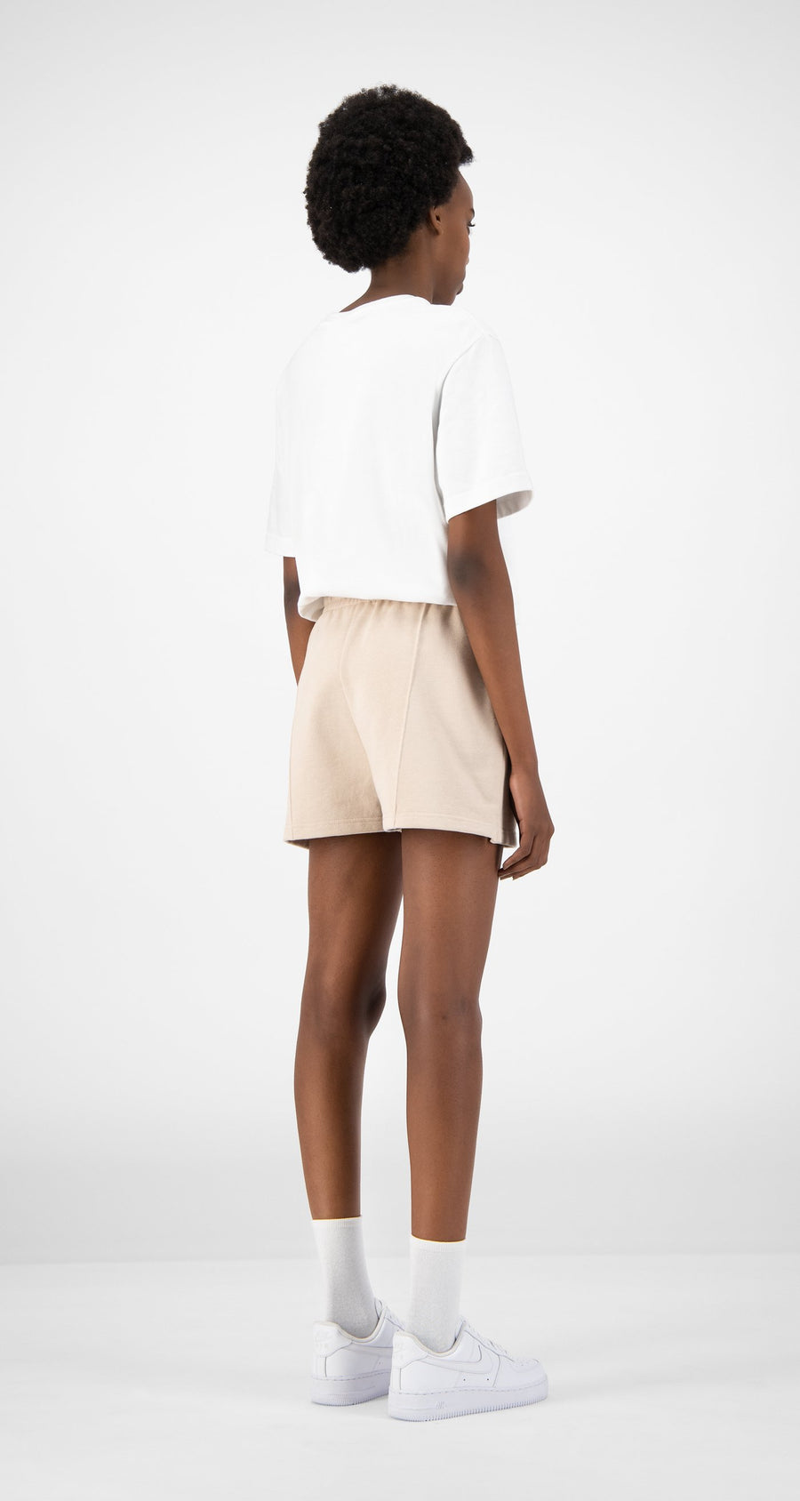 Daily Paper - Beige Ehot Shorts - Women Rear