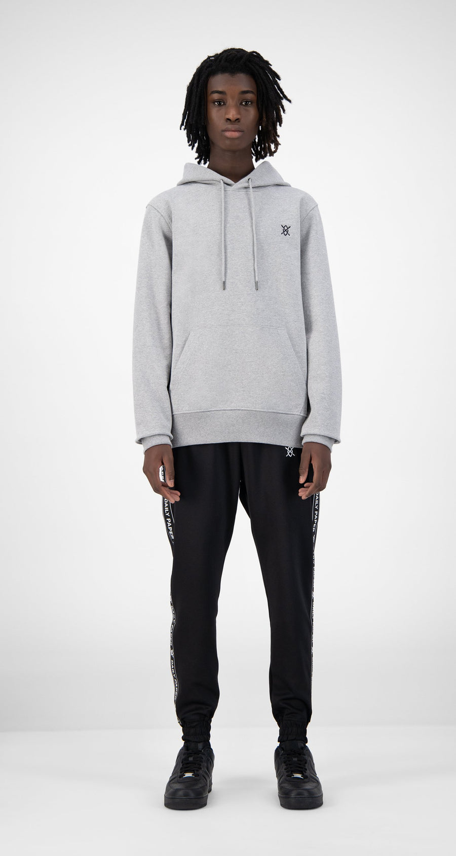 Daily Paper - Grey Eshield Hoody - Men Rear