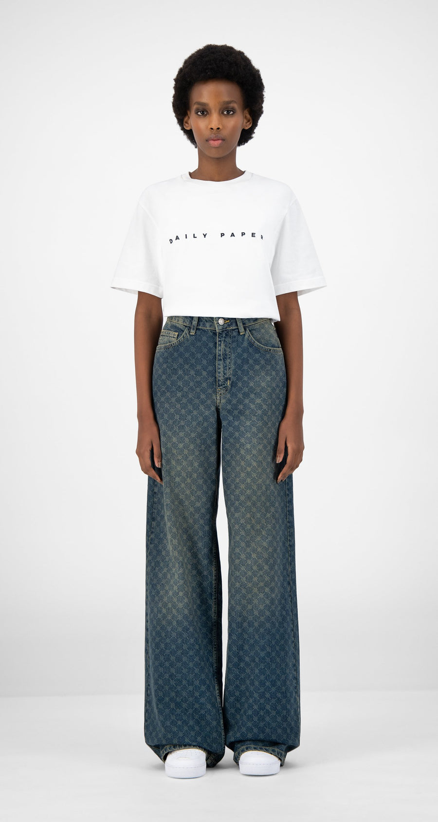Daily Paper - Vintage Blue Kikir Pants - Women Front