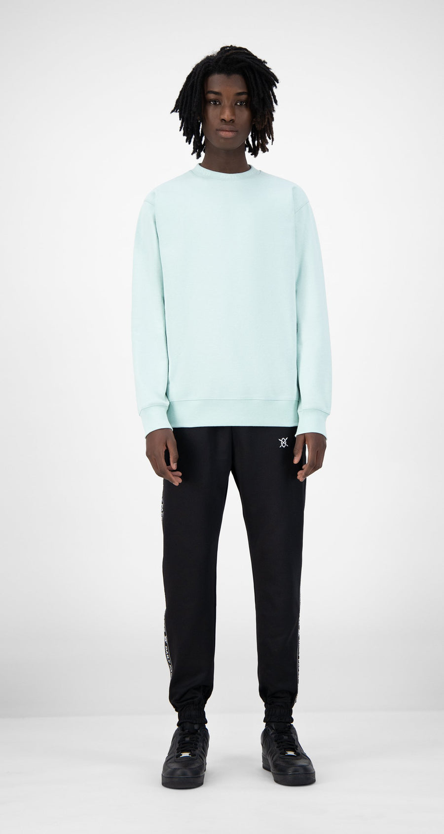 Daily Paper - Pastel Turquoise Derib Sweater - Men Rear