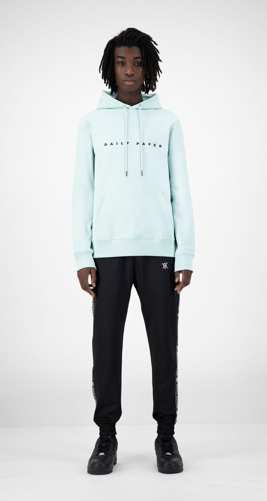 Daily Paper - Pastel Turquoise Elias Hoody - Men Front