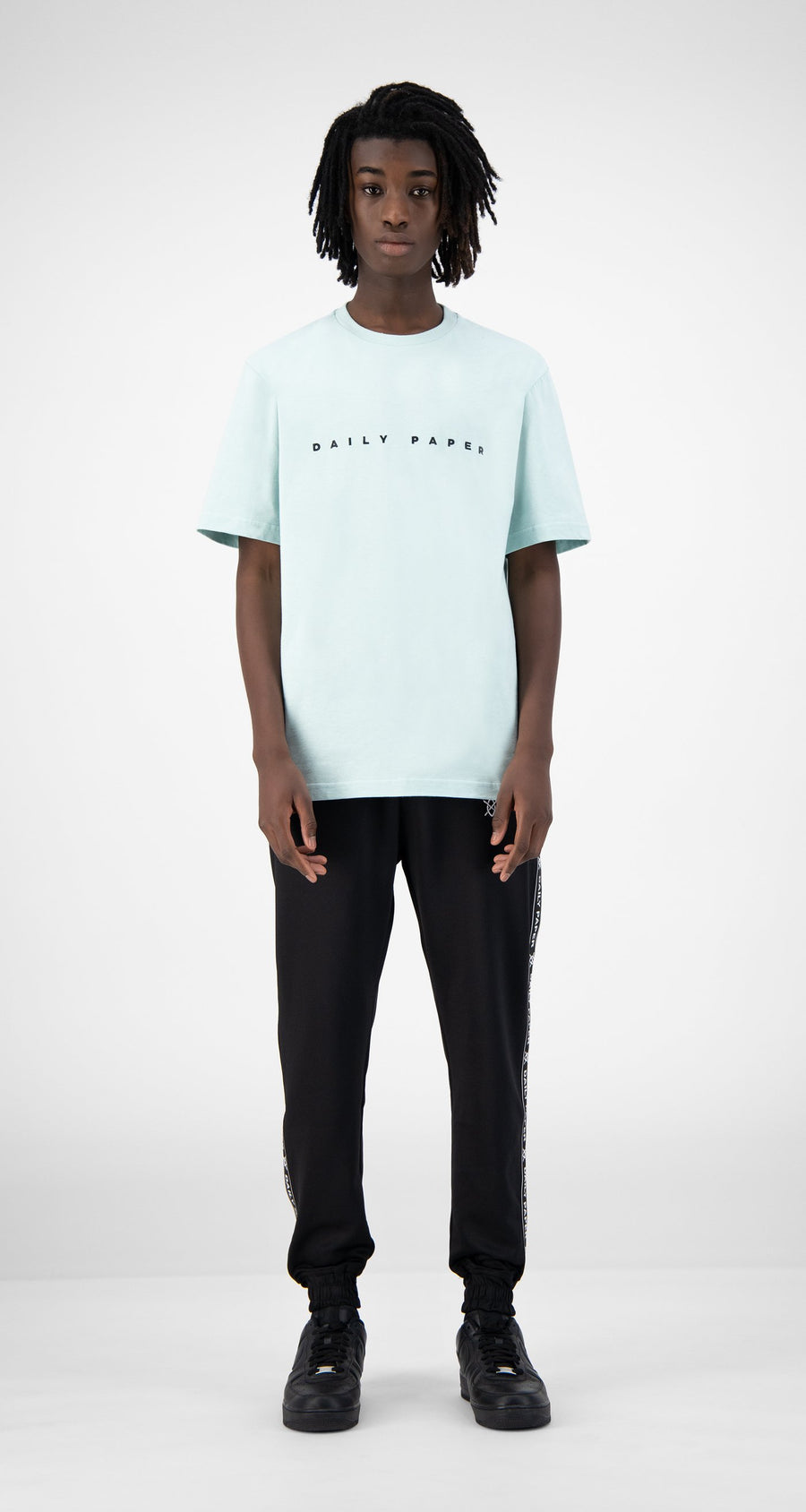 Daily Paper - Pastel Turquoise Elias T-Shirt - Men Rear