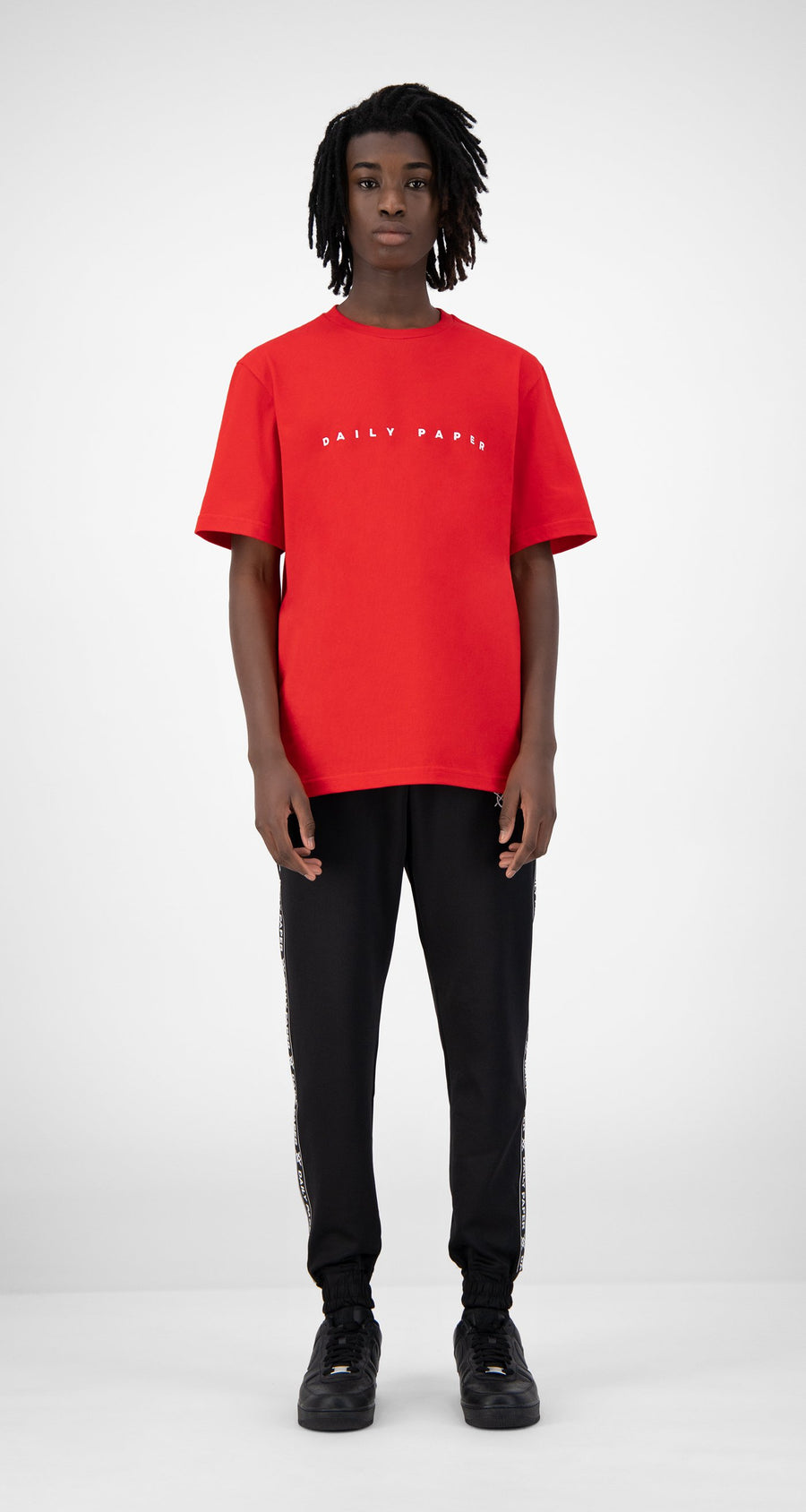 Daily Paper - Red Elias T-Shirt - Men Front